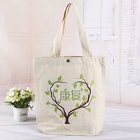 High quality button bag cotton canvas tote bag with handle