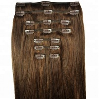 16-24 Inch 200g Clip In Human Hair Extensions Double Weft