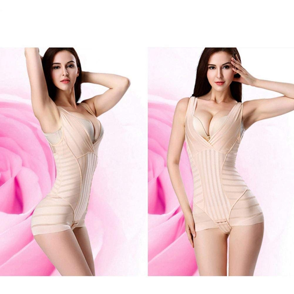 76a4d3a608 Get Quotations · AOBRITON Women Striped Lift Bras Bodysuits Seamless Smooth  Briefer Full Body Shaper Control Belly Shapewear Waist
