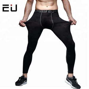 OEM Fitness Black Compression Pants Basketball Running Pants Elastic Compression Tights Men