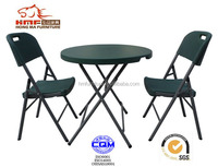 80*74cm small portal folding table/ 32'' circle plastic folding table
