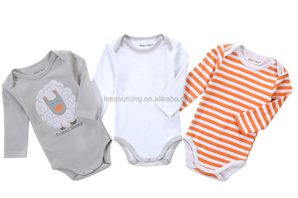 Romper newborn baby cotton long-sleeve triangle funny cartoon , babybody suit wholesale