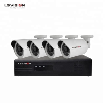 LSVISION Onvif Home Office Surveillance H.265 4ch 2 Megapixel CCTV POE 265 NVR Kit