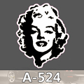 A 524 Black White Marilyn Monroe Waterproof Cool DIY Stickers For Laptop Luggage Fridge Skateboard Car