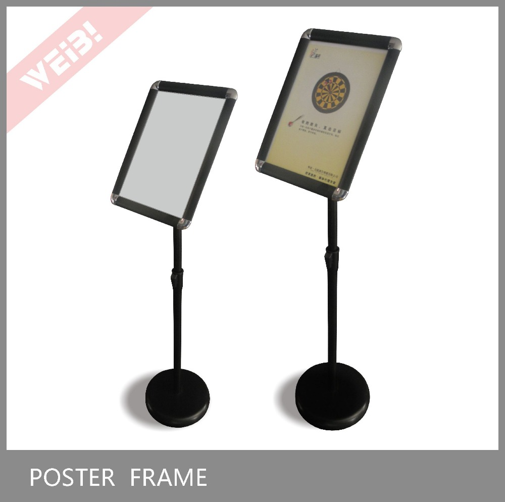 A3/4 size Black Round cornor Advertising Poster Stand