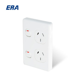 15A Australian Vertical AC electric switch and socket