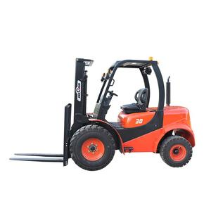 China hydraulic rough terrain diesel forklift truck for sale
