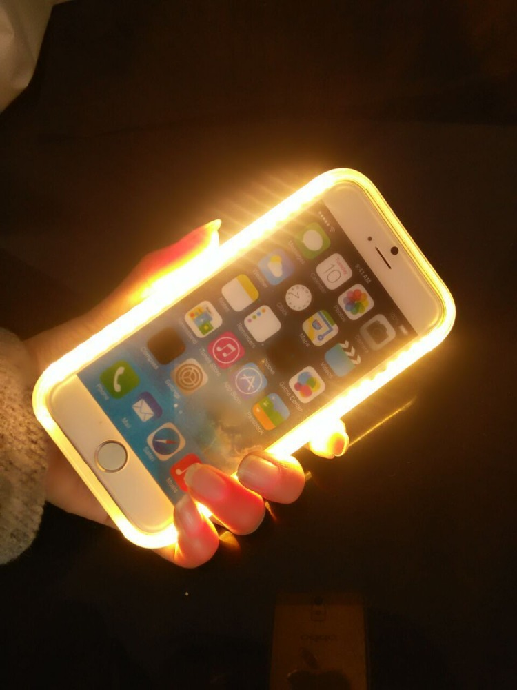iphone led case led light selfie phone skin for iphone 6 6s led 7593