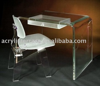 Acrylic Computer Desk And Chair/Acrylic Office Desk/Acrylic Home Desk