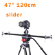 "120cm 47"" dslr camera slider 1/4"" 3/8"" Screw Mount For DV video shooting"