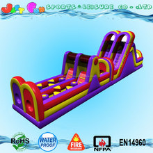 long commercial grade adult inflatable obstacle course challenge for sale