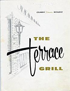 The Terrace Grill Restaurant Menu Columbia Missouri 1964 Little DIXIE Style