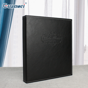 6'' or 8'' black leather cover photo album 6R photos slip in 2up pp pocket 6x8 cheacp price fanny wedding scrapbook 200 photos