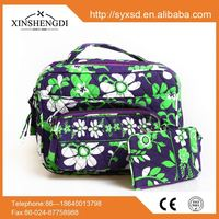Low prices Personality fashion foldable lady oem Cotton Quilted Makeup Bag