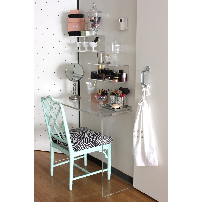 Simple Waterfall Clear Acrylic Dressing Table Buy Dressing Table - Acrylic waterfall table