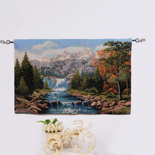 PLUS Customized photo jacquard gobelin canvas tapestry with embroidered technics for sale