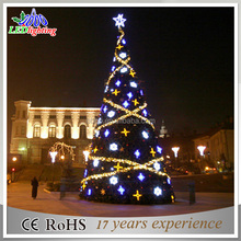 Factory direct supply lighted cone christmas tree/Popular large metal frame christmas tree