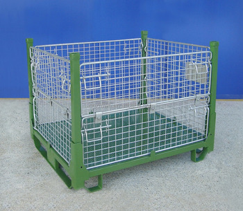 Manufacturer industrial stackable storage wire mesh container