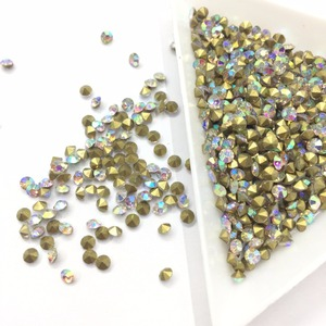 Bling Bling all color and size crystal rhinestones pointback glass chaton in rhinestones
