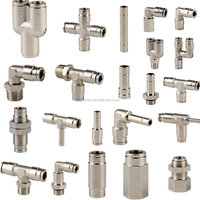 Pneumatic Mental Push-in Fittings,push fittings,pneumatic fittings