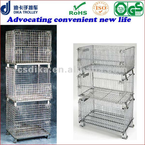 Metal Storage Crates Basket Steel Stacking Containers Stackable Container Product On Alibaba