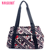 210D polyester women trendy young fashion handbags lady two sided shoulder bag in stock