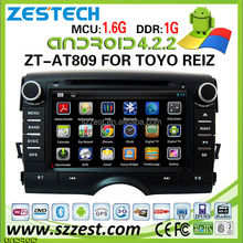 ZESTECH Pure 4.2.2 multipoint capacitive touch screen Android Car pc for Toyota New Reiz gps navigation multimedia in-dash dvd