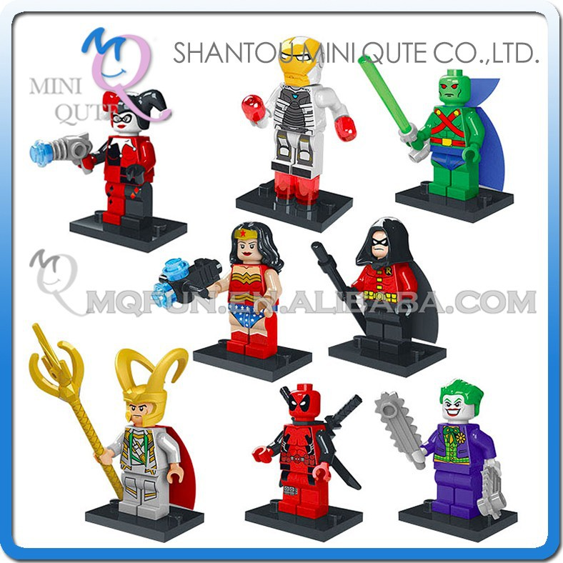 Mini Qute LELE 8pcs/set Marvel Avenger super hero boys educational toys building block action figures educational toy NO.78026