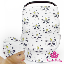 New Design Baby Product Printed Car Cover With Same Fabric Hat Mother Public Location Feeding Hood