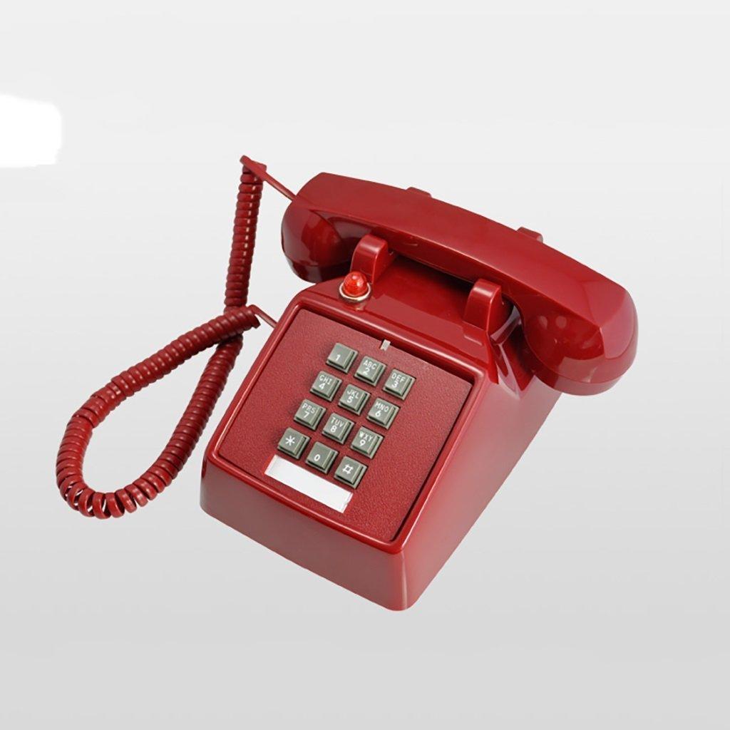 retro Telephone Retro Telephone Vintage Button Antique Vintage Landline Antique Fashion Creative Telephone European Mechanical Ringtones ( Color : Red )