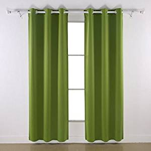 "Angel Solid Grommet Blackout Panel Curtain Thermal - All Sizes (84"" Standard, sage)"