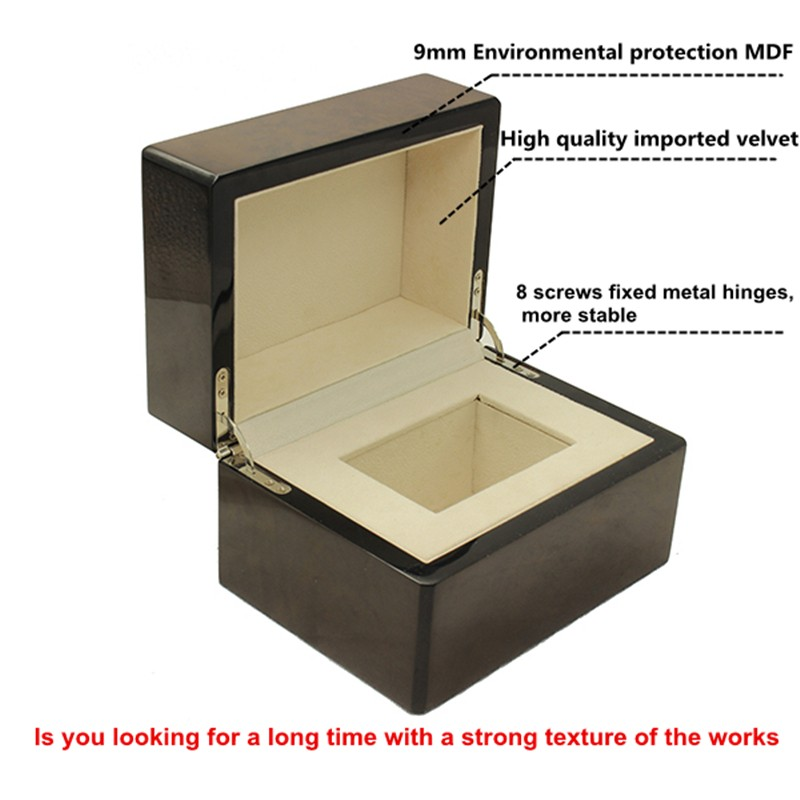 Simple Design Single Wood Watch Display Box