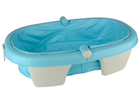 2015 new design folded Large round plastic bath tub for baby and kids, baby changing table with bath