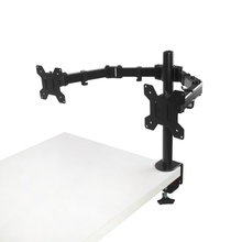 Amazon Hot Selling Double Arm Monitor Clamp Stand Factory Price For November Promotion