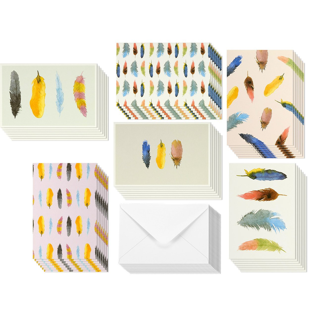 Cheap blank greeting card packs find blank greeting card packs get quotations 48 pack all occasion assorted blank note cards greeting card bulk box set colorful watercolor kristyandbryce Image collections