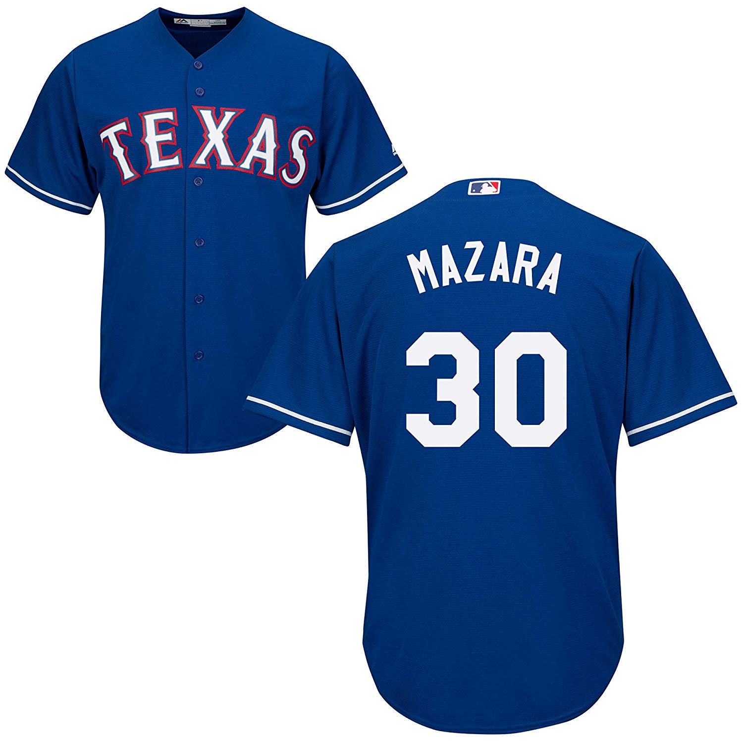 a81aab48a Get Quotations · Outerstuff Nomar Mazara Texas Rangers Blue Youth Cool Base  Alternate Replica Jersey
