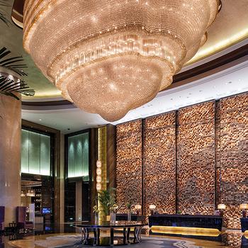 Luxury Large Hotel Lobby Restaurant Chandeliers Lighting Crystal Chandelier Ceiling Pendant Hanging Light Fixtures