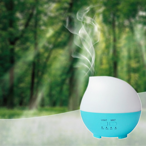 300 ml colorful lights water drop shape ultrasonic essential oil humidifier aroma diffuser with timer function