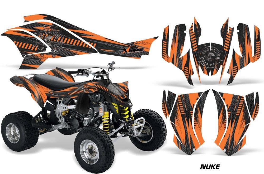 AMR Racing Graphics Can-Am DS-450 2008-2016 ATV Vinyl Wrap Kit - Nuke Orange