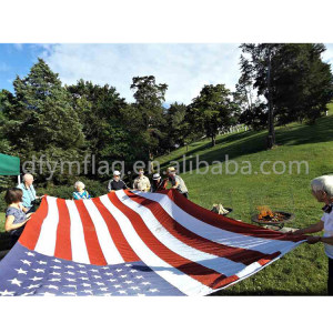 Custom Big 100% polyester Best Price Large USA American Flag