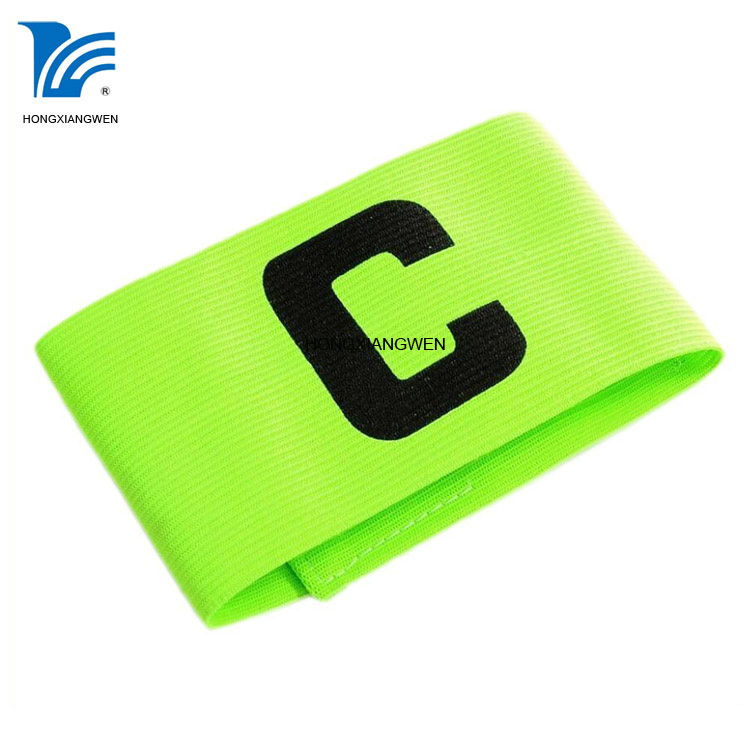 Good quality Hook Loop Closure Stretchy Customized Soccer Captain Armband