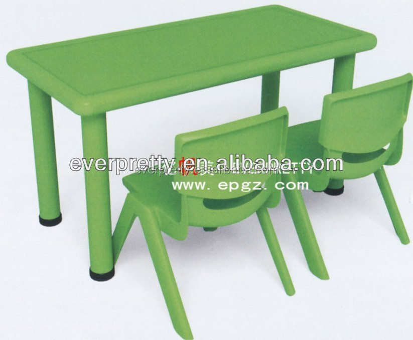 Ergonomic kids plastic study table, kids furniture desk and chair