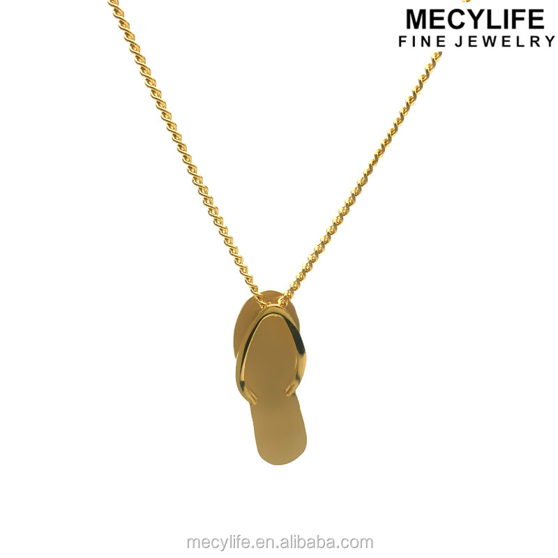 MECYLIFE Personalized Flip Flop Shoe Custom Surgical Steel Pendant