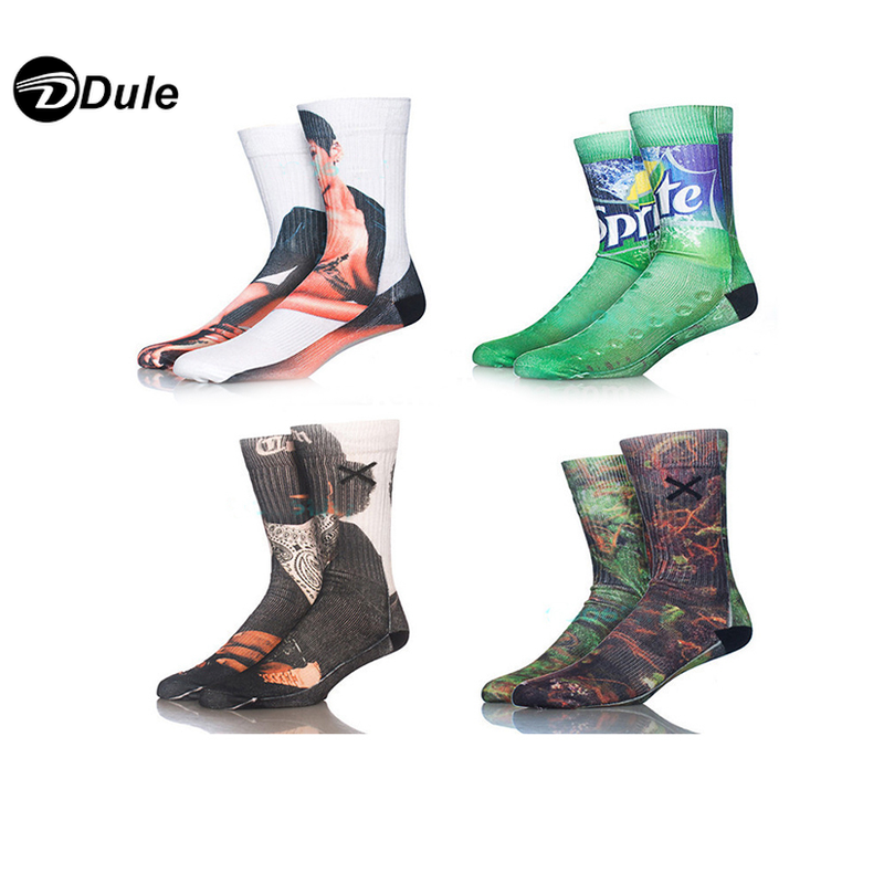 DL-I-1284 dye sublimated socks sublimation socks sublimated socks custom