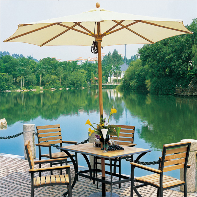 chinese manufacturer wooden outdoor cafe garden umbrella