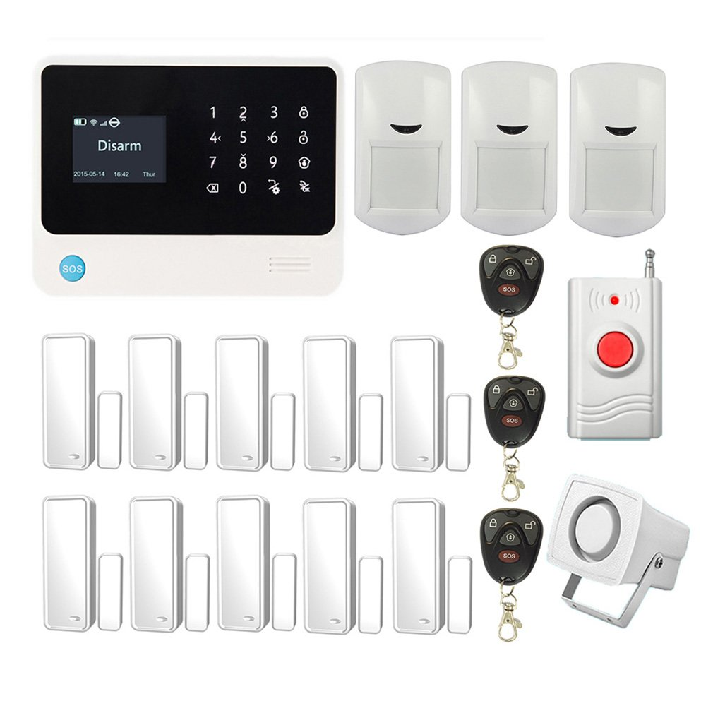 Buy Bibene 3g Wifi Home Security Alarm System With 43 Touch Screen Burglar Control Keypad Smart Anti Theft Siren Sos Panic Intruder Gsm