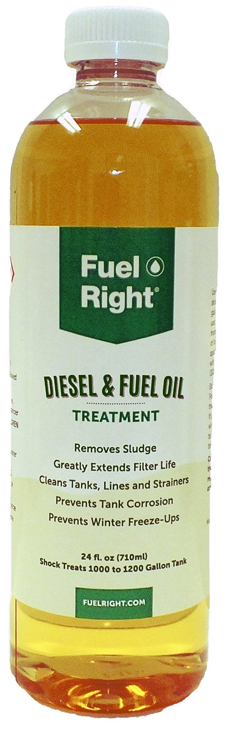 Fuel Right - Diesel and Fuel Oil Tank Treatment Additive - Cleans Tanks, Prevents Corrosion, Dissolves Sludge and Prevents Fuel Freeze-Ups, 15K 24 oz Bottle