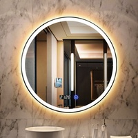 Hospitality Lighted Touch Sensor Switch Makeup Bathroom Cosmetic Vanity LED Mirror With Light