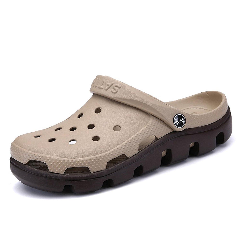 71c4d54b86a8 Get Quotations · XIANV Men Slippers Summer Mens Mules Clogs EVA Material  Lightly Beach Garden Shoes Man Slippers Clog
