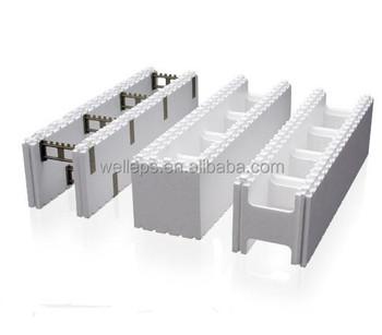 Environmentally friendly eps foam icf block material for Foam blocks for building houses